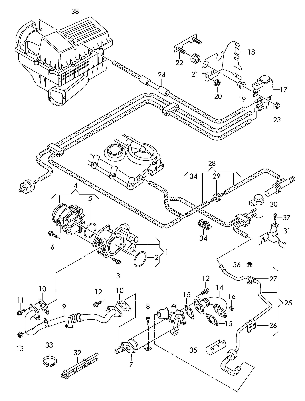Volkswagen Egr Valve Exhaust Recirculatio