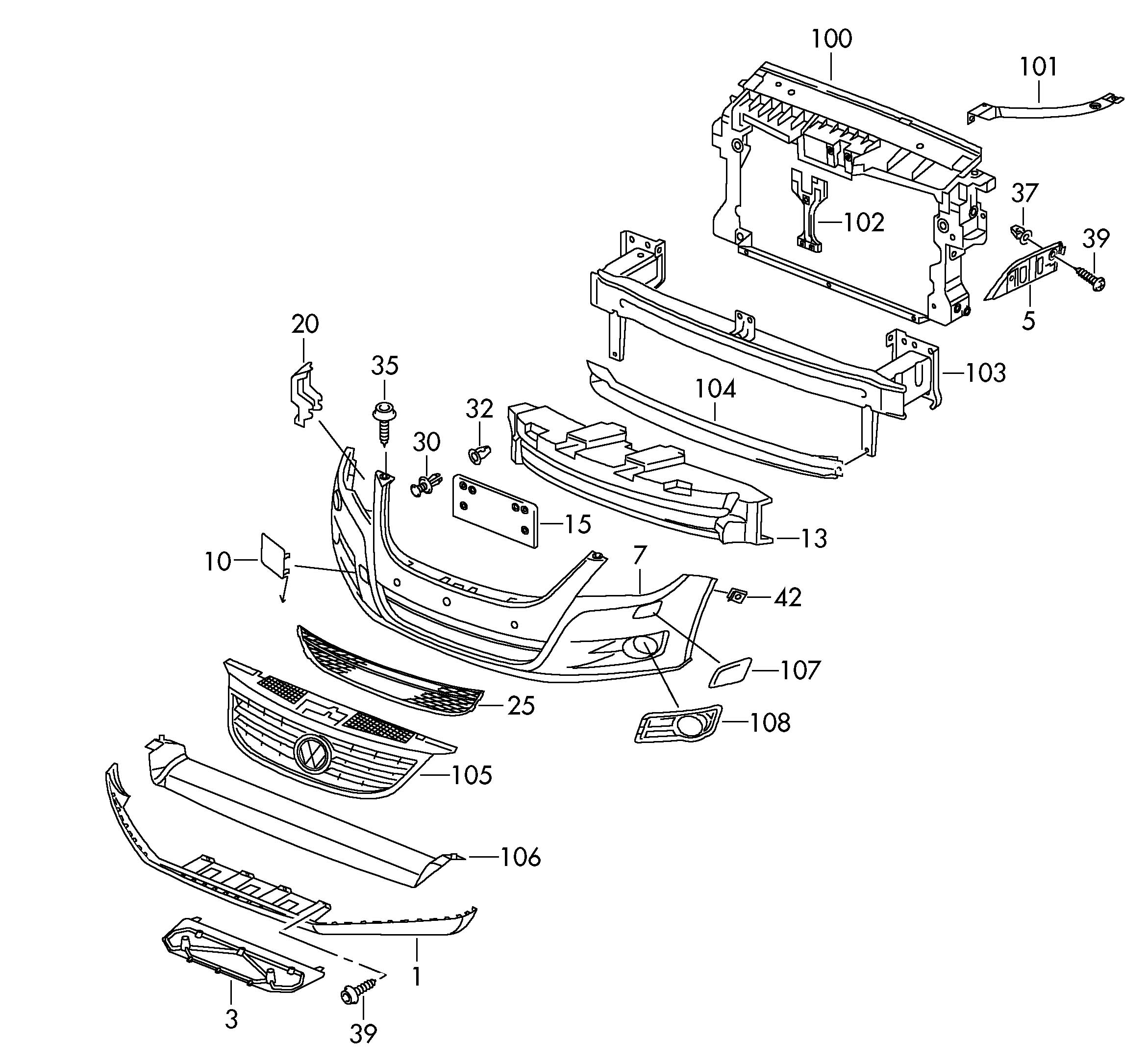 Volkswagen Tiguan Guide frame for vehicles with headlight