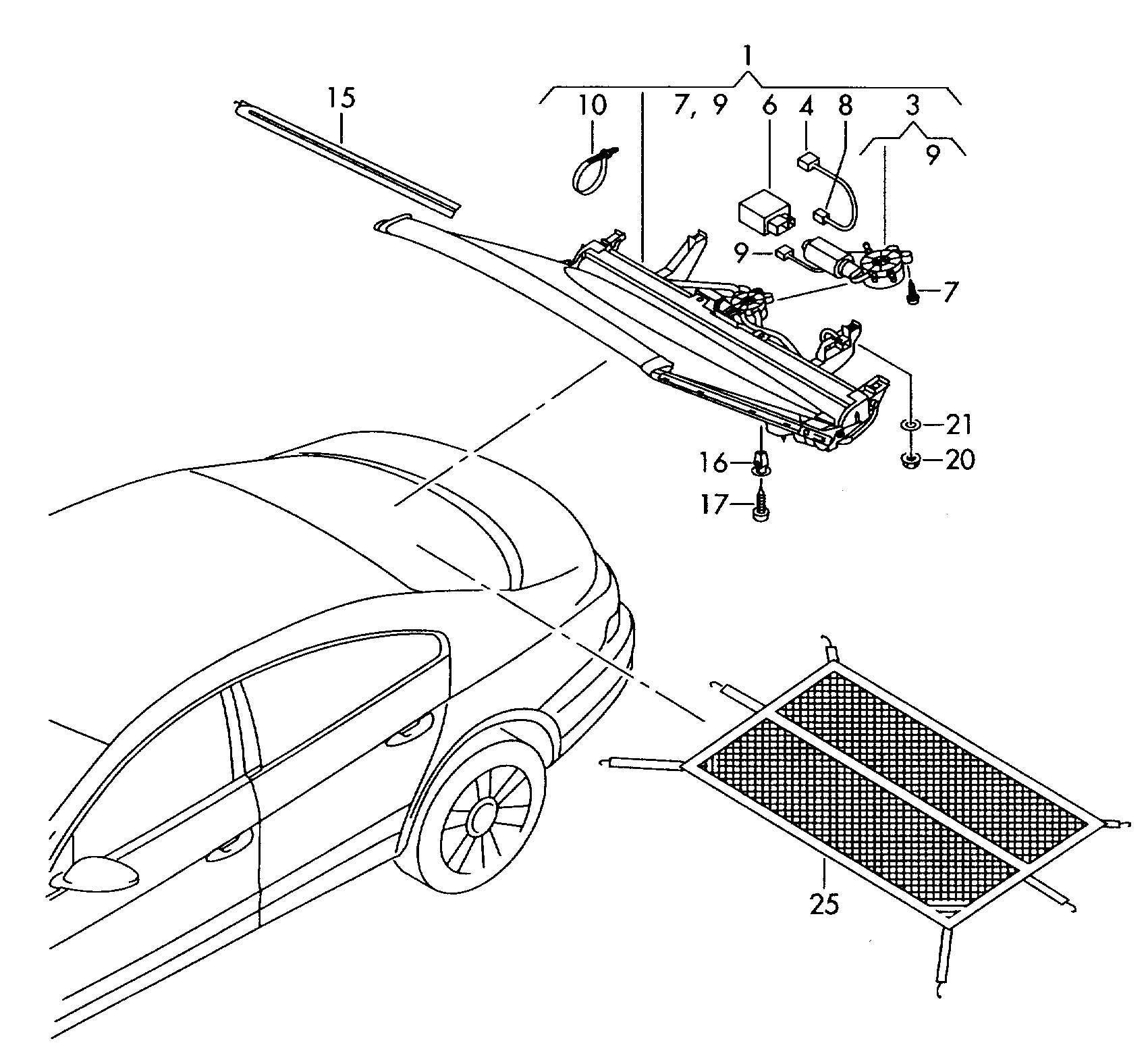 Volkswagen Passat Cc Sunshade For Rear Window