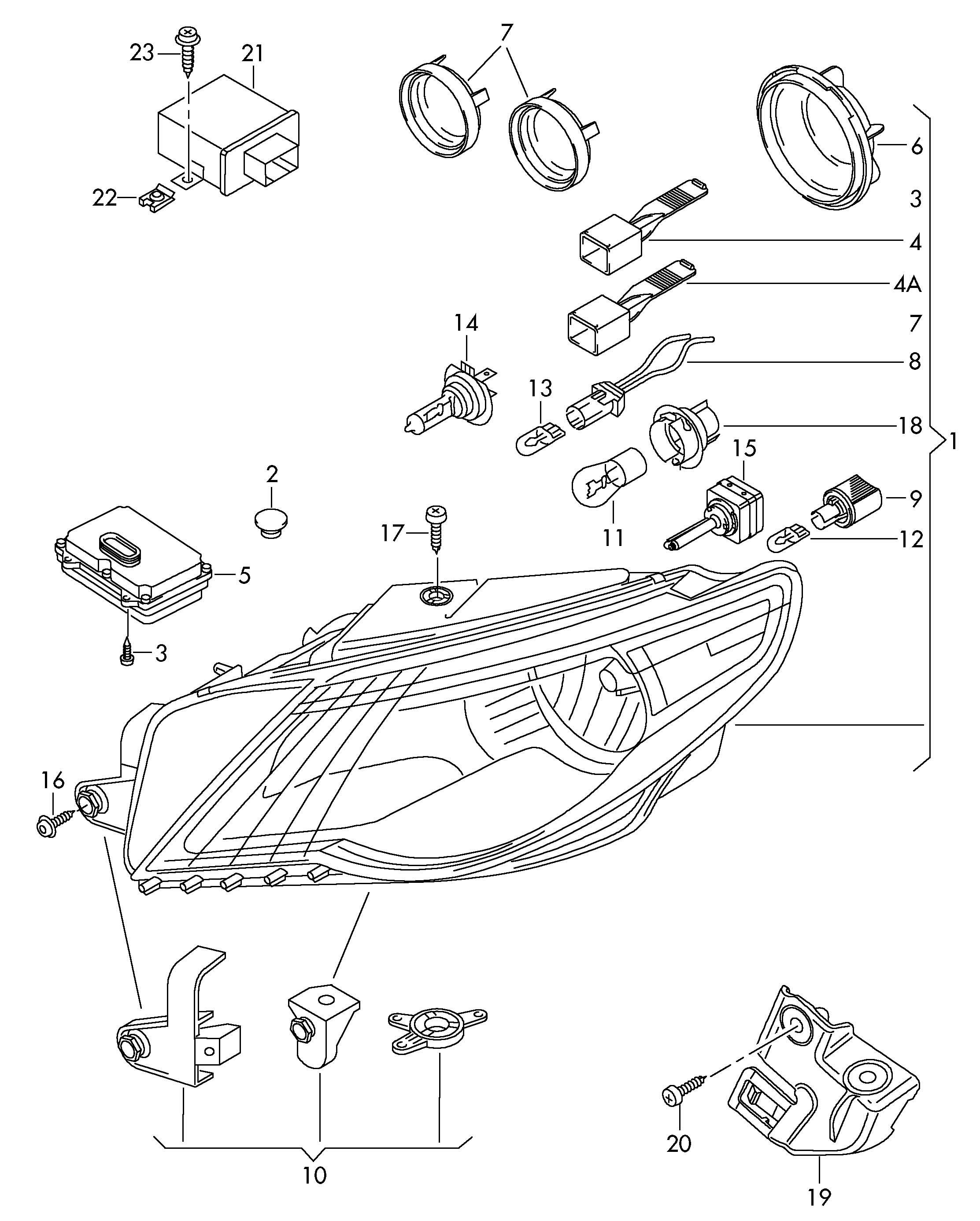 Volkswagen Passat Cc Repair Kit For Headlamp Housing