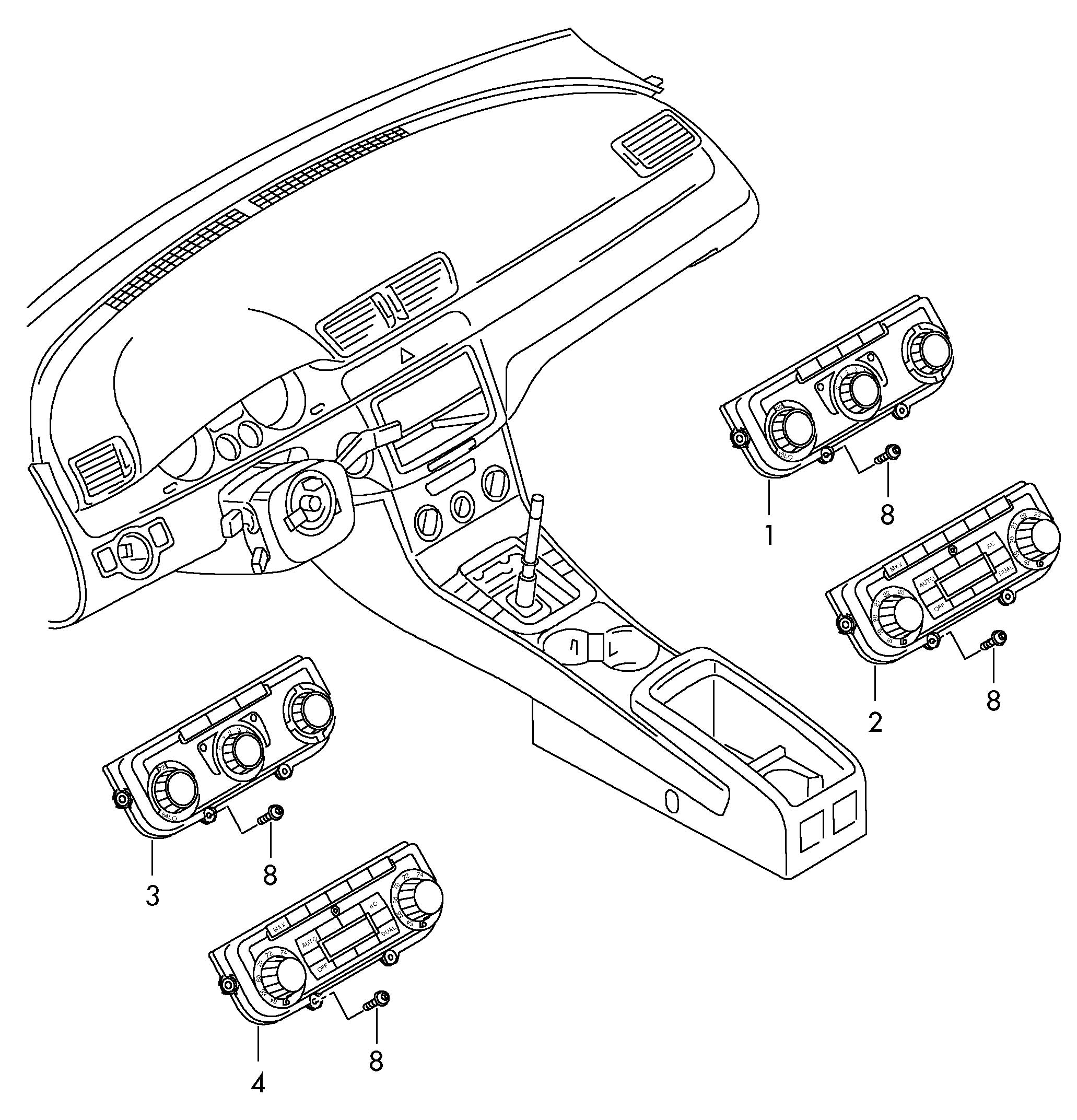 Volkswagen (VW) Passat CC Display and operating unit