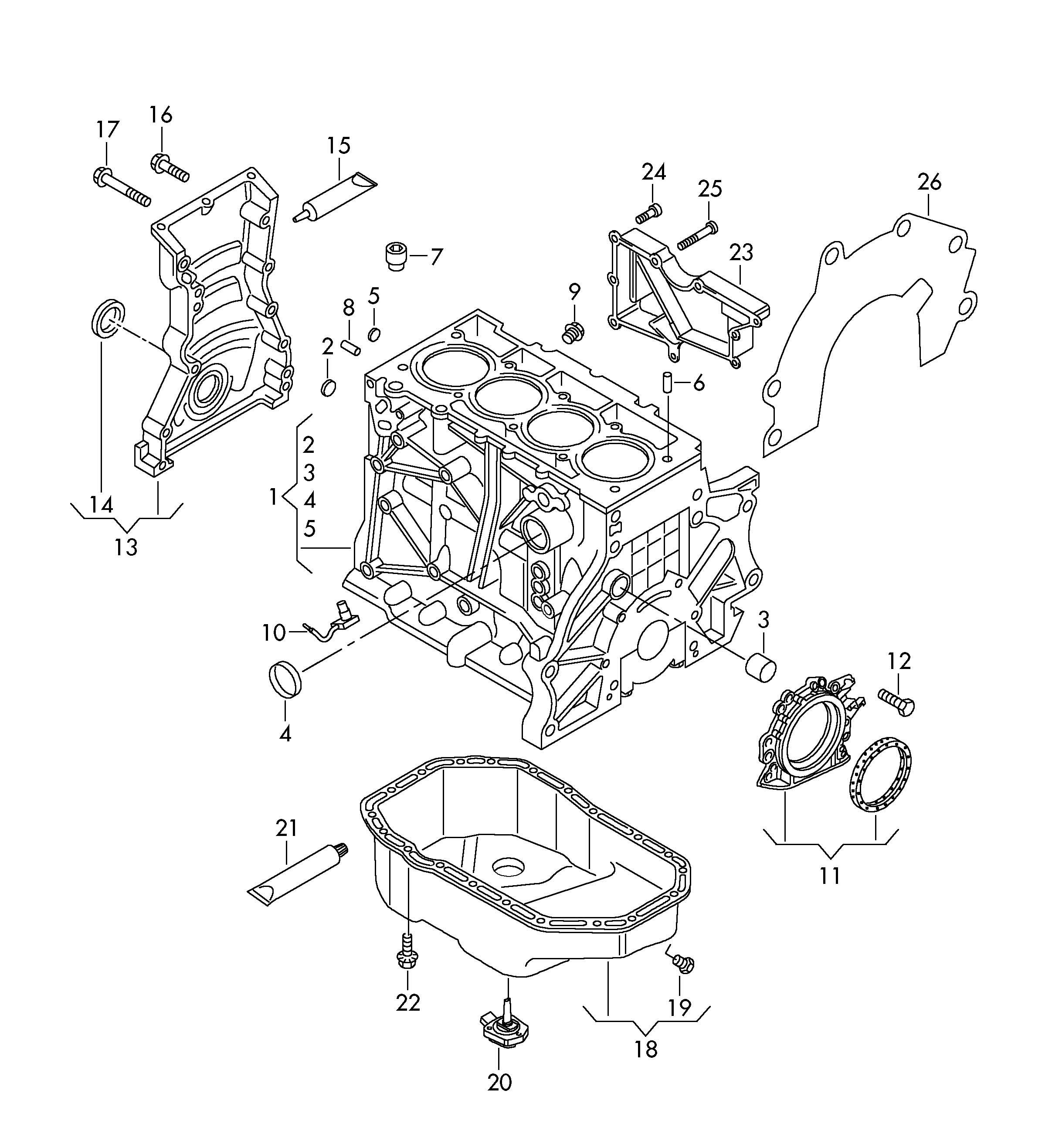 Volkswagen Jetta 2.5L 5 Cylinder Oil level sensor. CCZB
