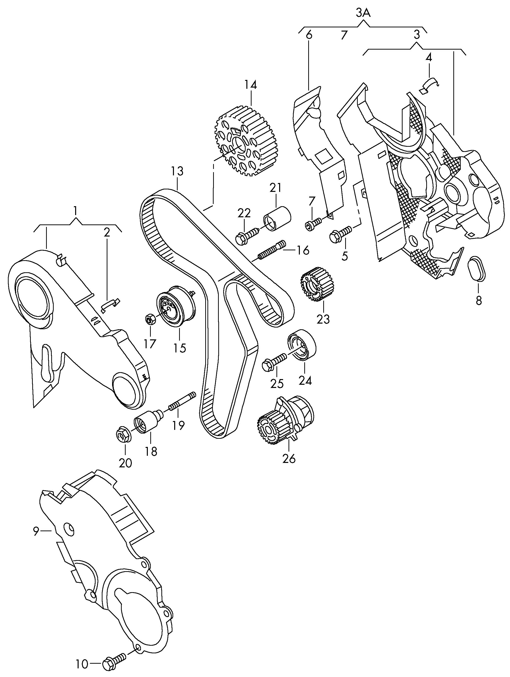 Volkswagen Eos Engine Timing Belt Idler. Audi; Volkswagen
