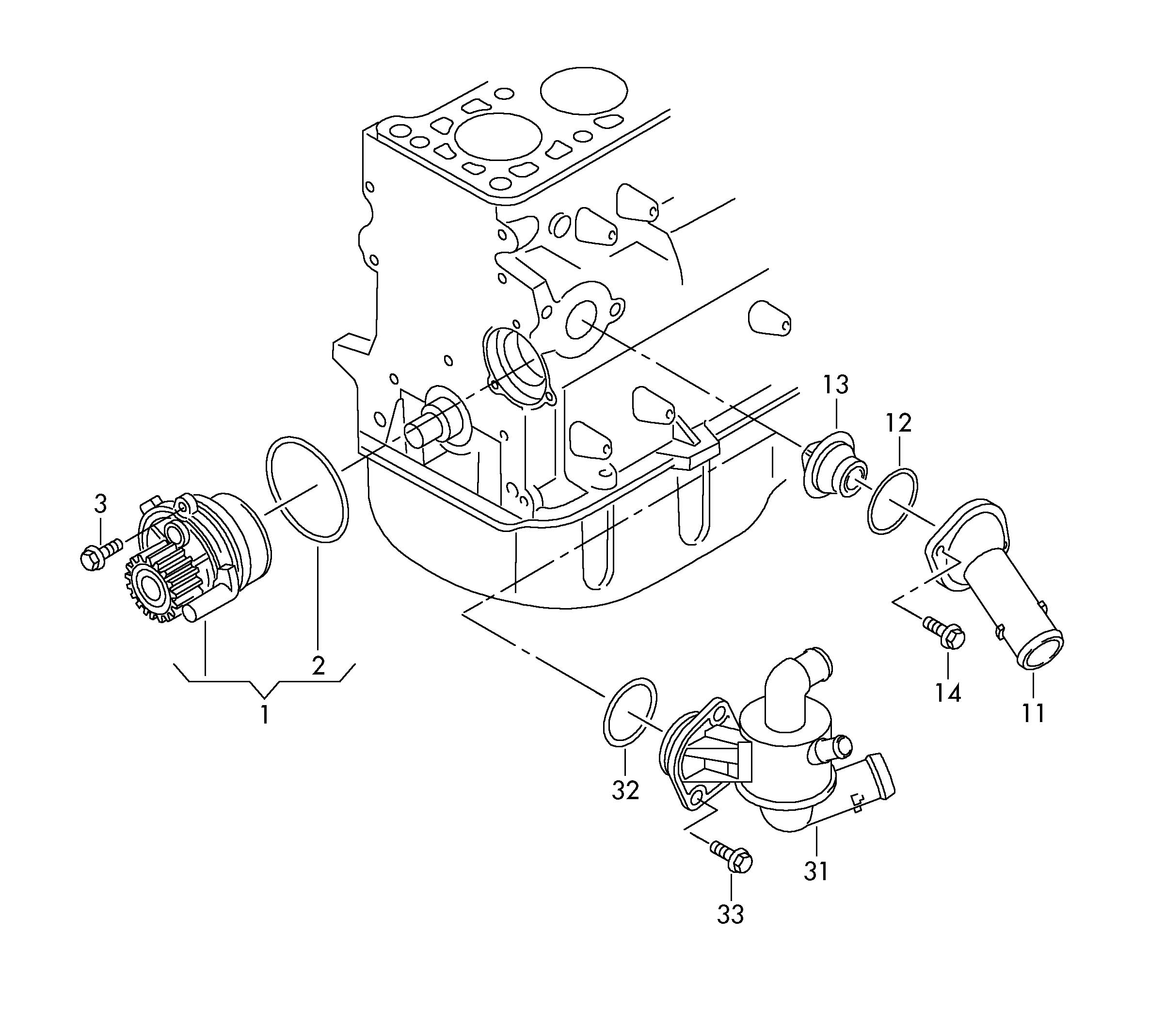 Volkswagen Golf Variant Engine Coolant Thermostat Kit
