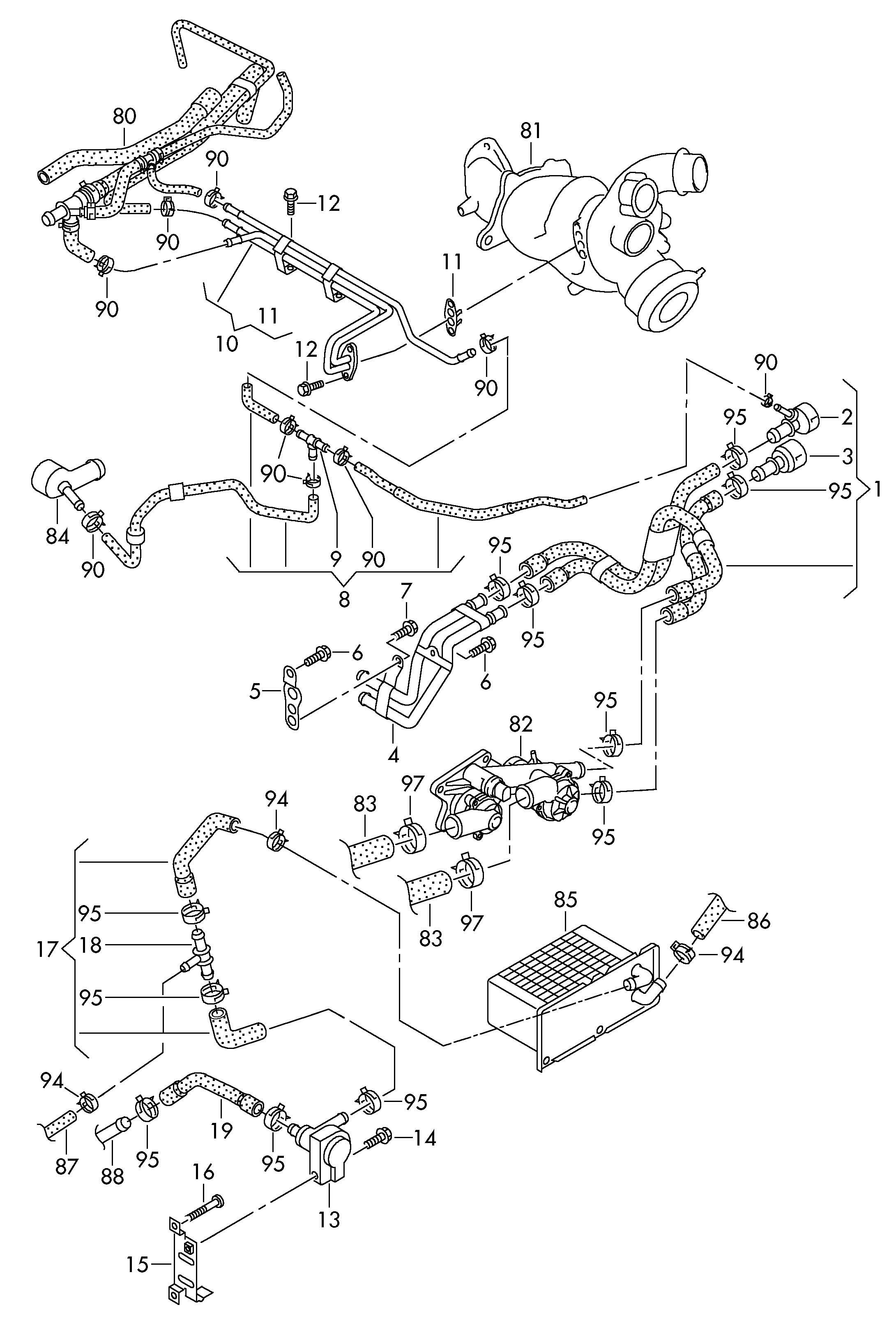 Volkswagen Rabbit 2 5l 5 Cylinder Water Pump Water