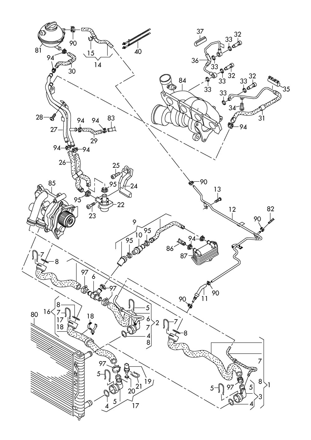 medium resolution of ea888 gen 3 engine diagram get free image about wiring 2009 volkswagen tiguan engine water hose