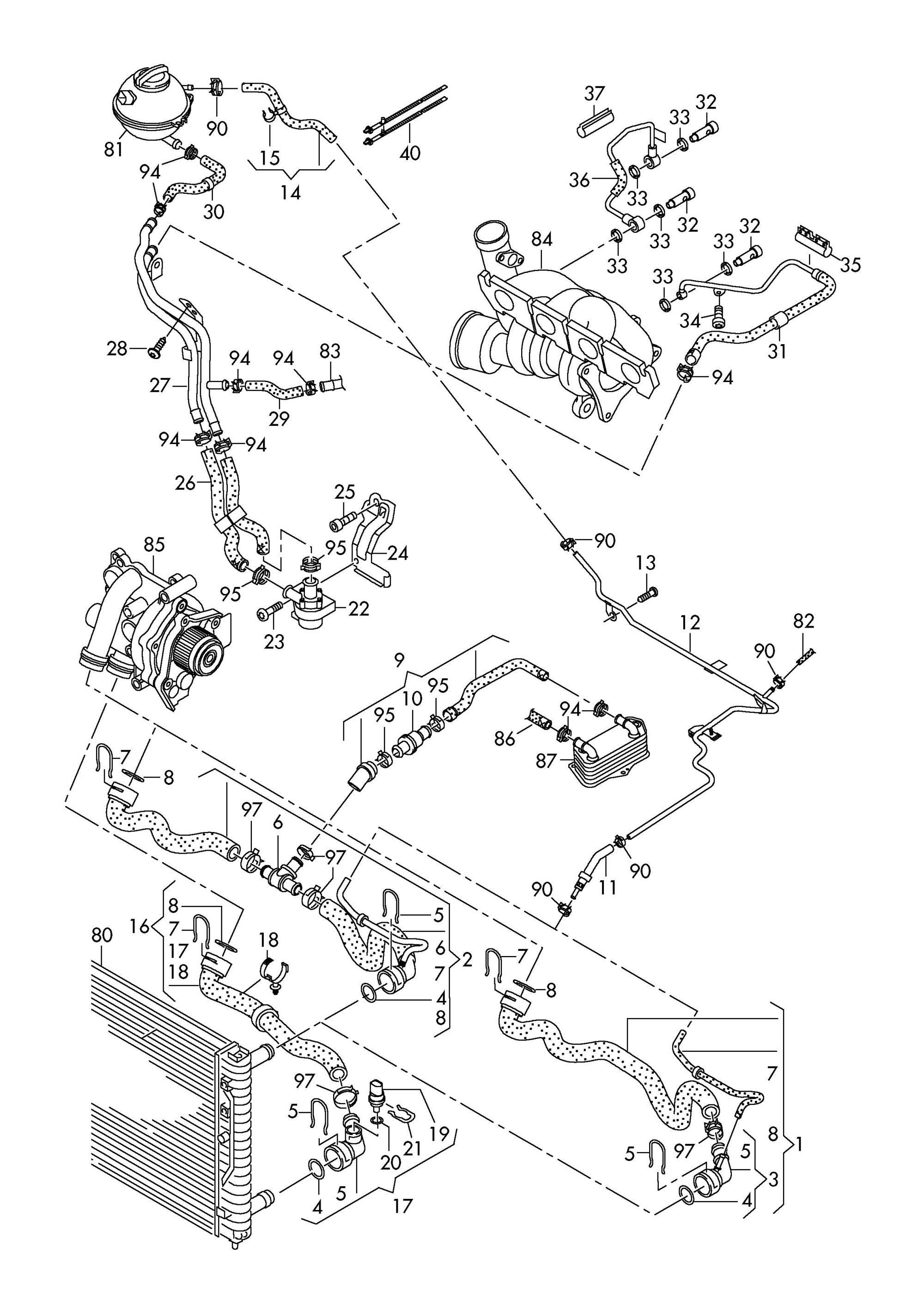 hight resolution of ea888 gen 3 engine diagram get free image about wiring 2009 volkswagen tiguan engine water hose