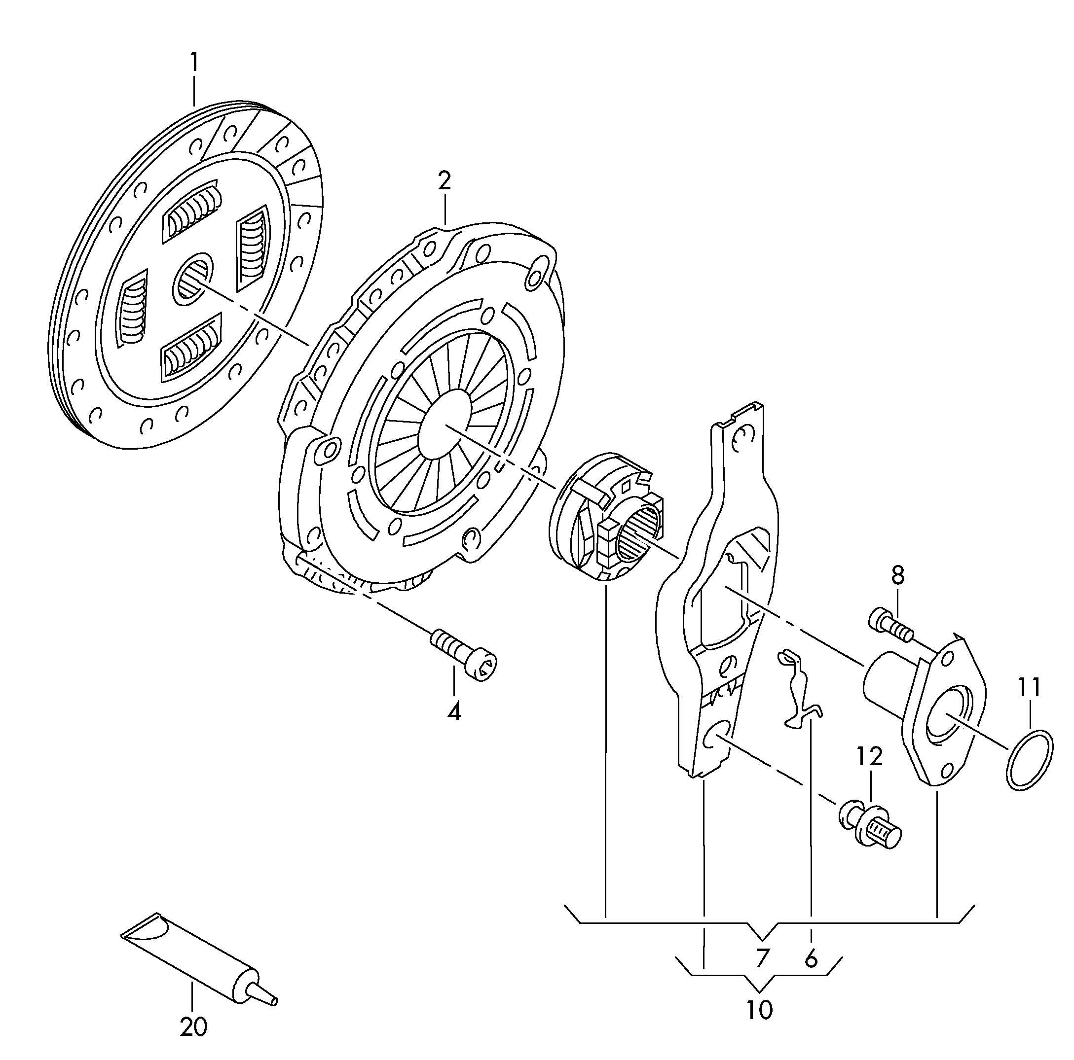 Volkswagen Gti Clutch Pressure Plate Clutch Plate Clutch