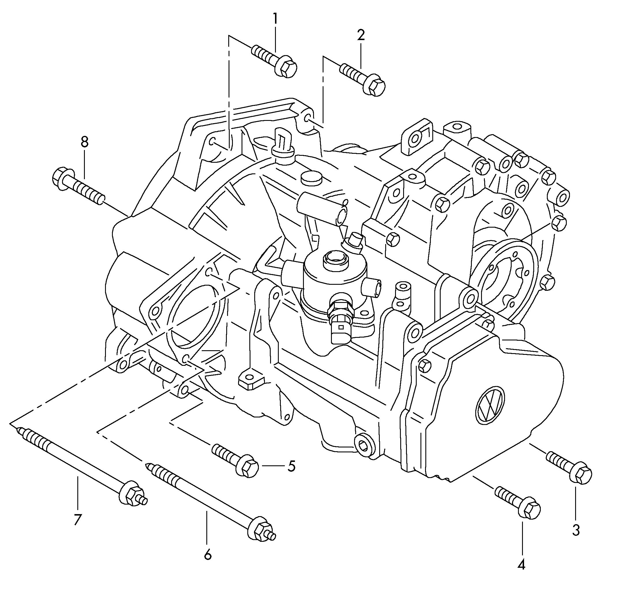 Volkswagen (VW) Jetta Mounting parts for engine and