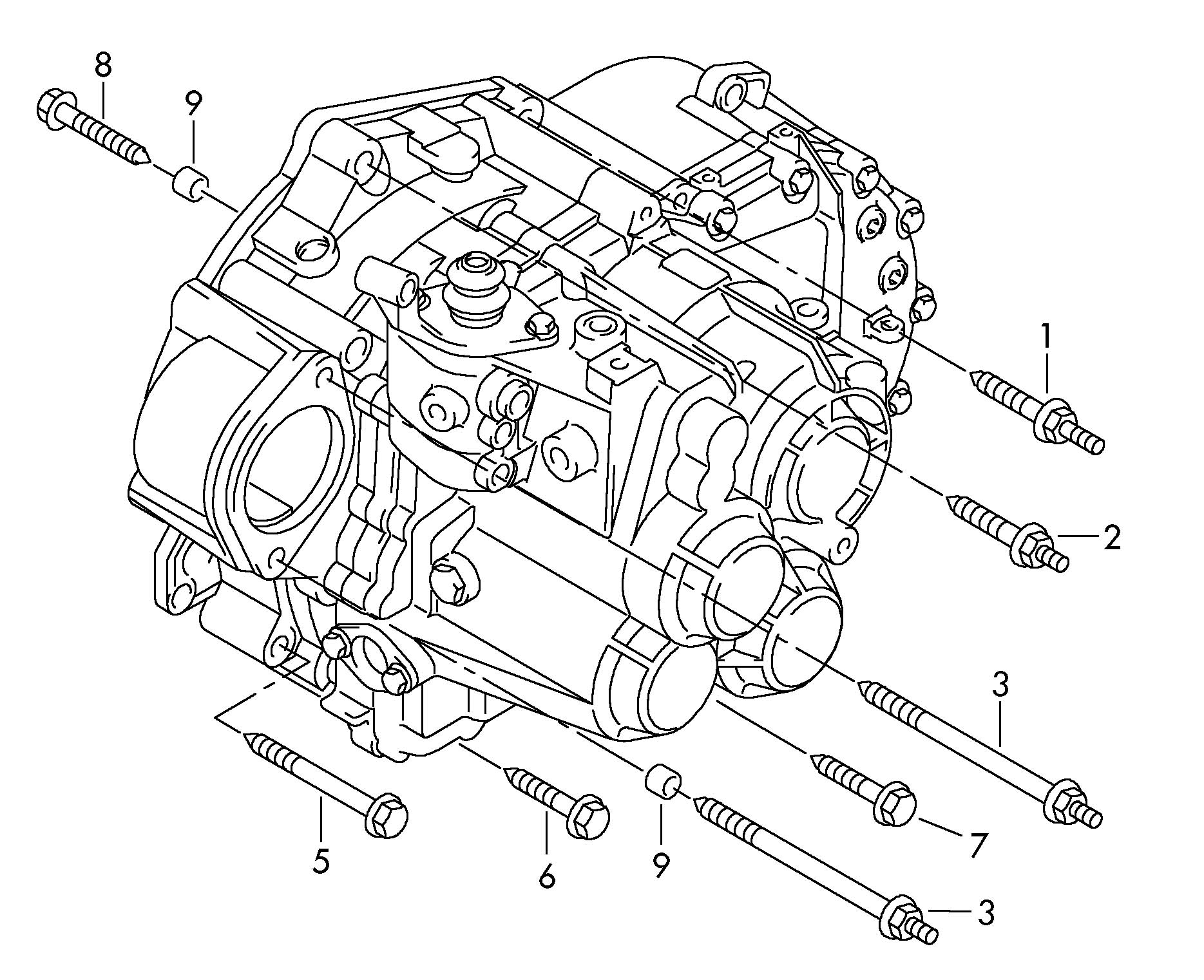 Volkswagen Tiguan Mounting parts for engine and