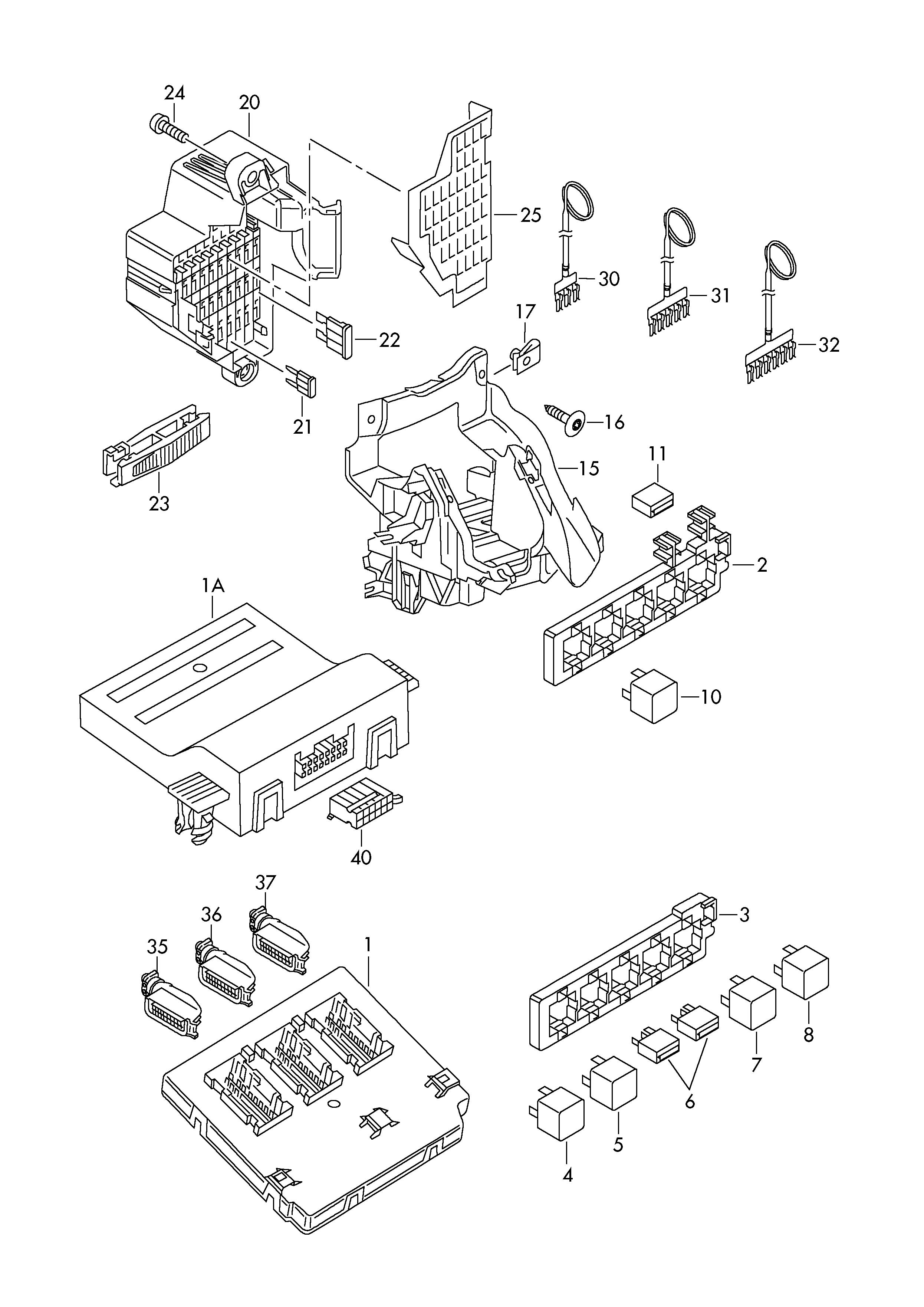 Fasteners fuse holder diagnosis interface for data bus