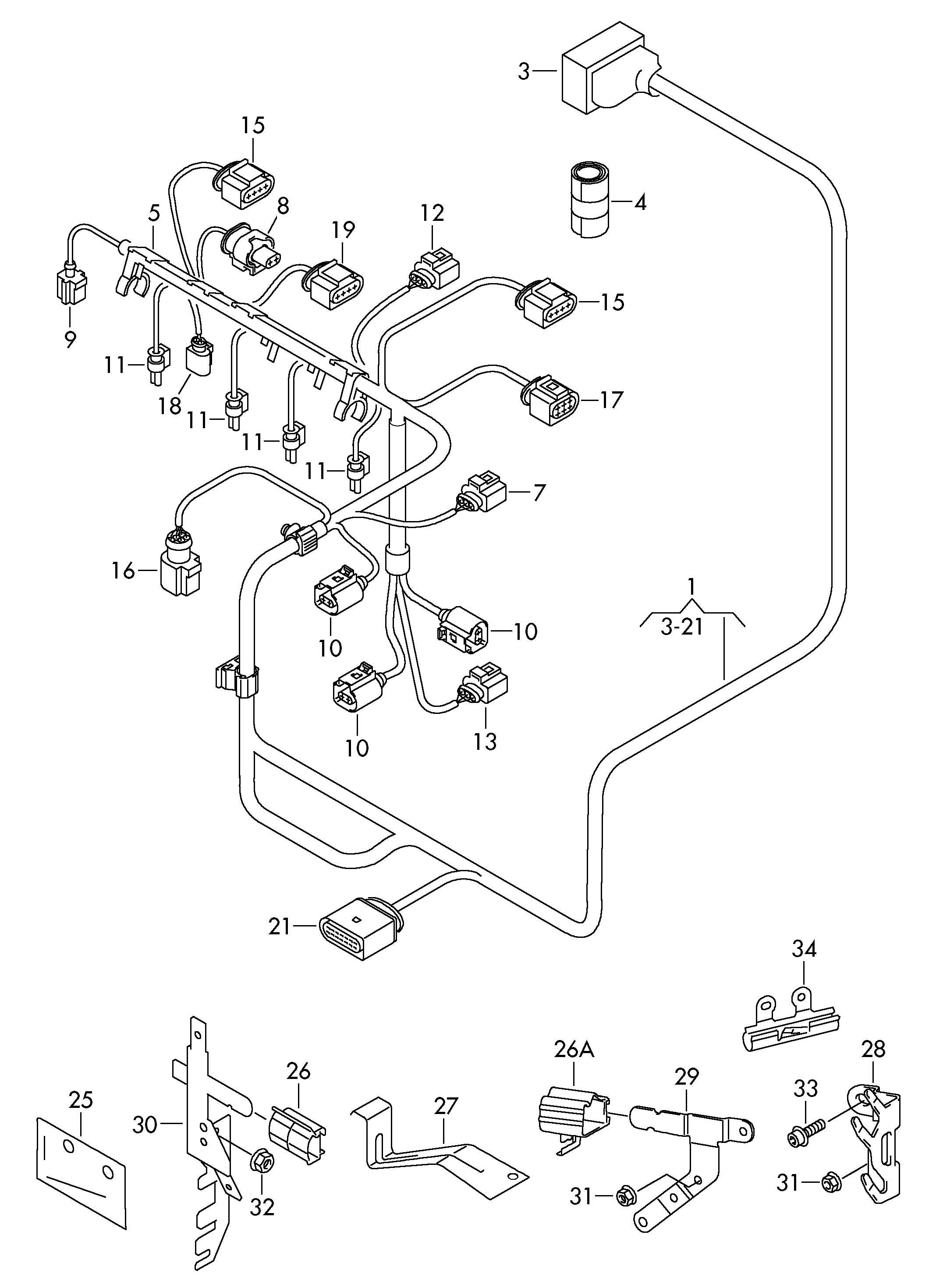 81 Volkswagen Rabbit Wiring Harness. Volkswagen. Auto