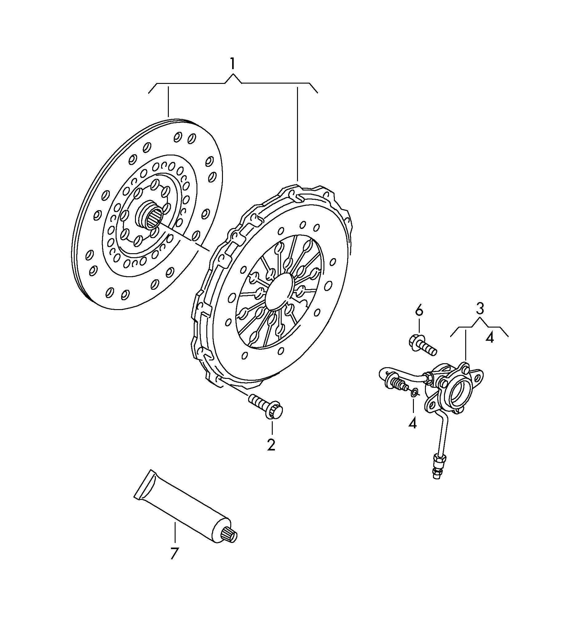 Volkswagen Tiguan With hydraulic operation release bearing