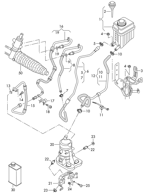 Volkswagen Electric Power Steering Pump Fluid Container
