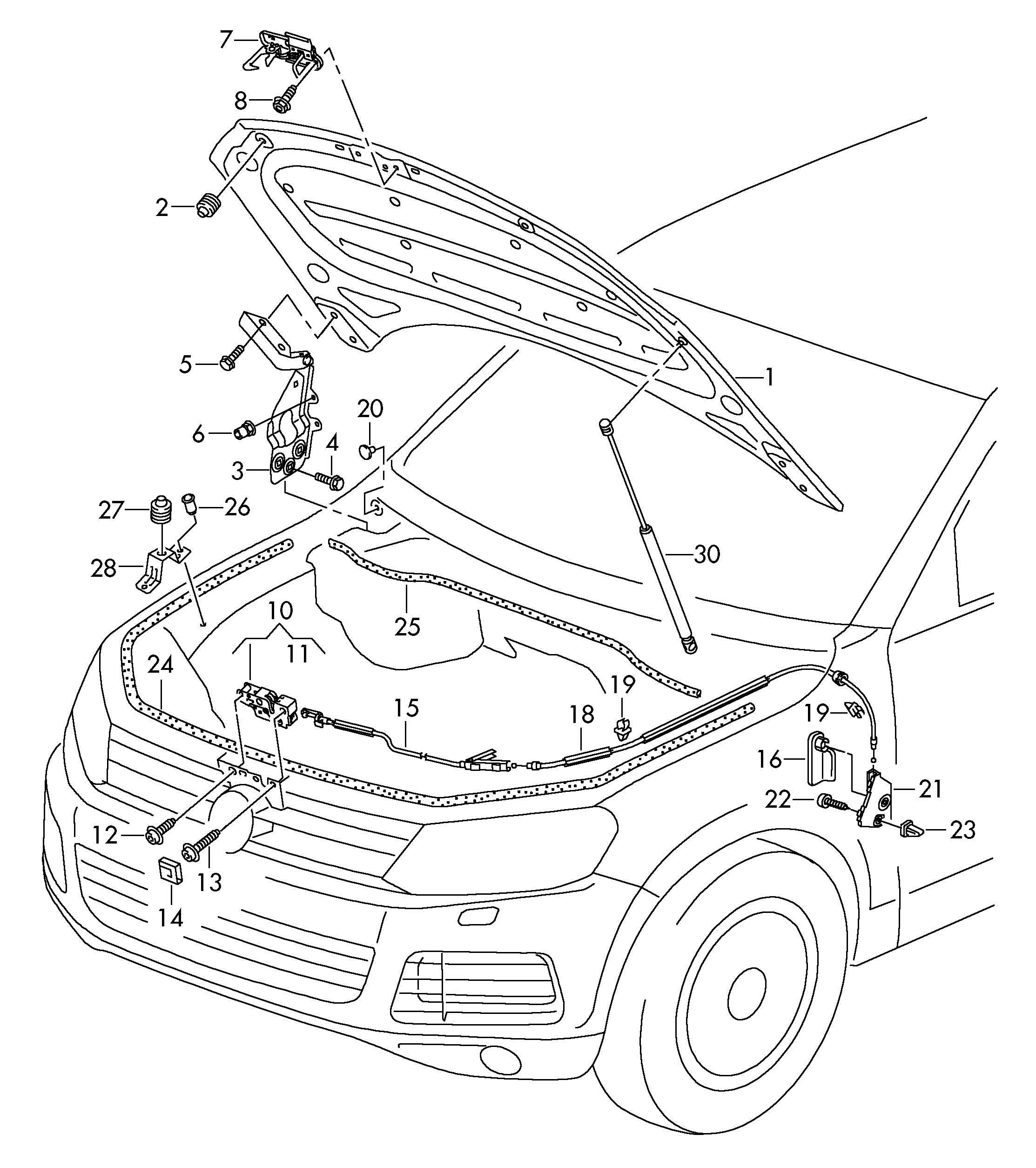 Volkswagen Touareg Bolt, hex. Hd. (combi.) self-locking