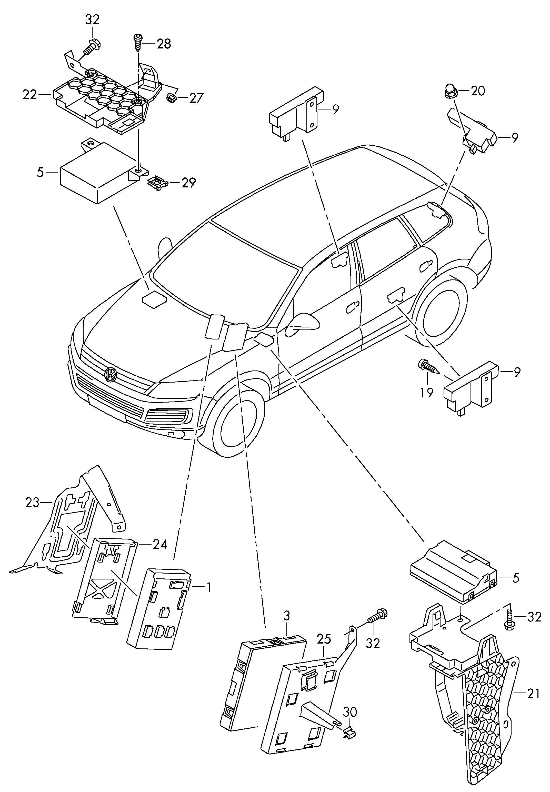 Volkswagen Touareg Diagnosis Interface For Data Bus