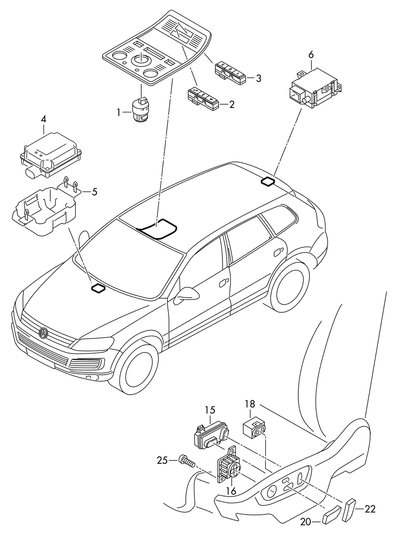 Volkswagen Touareg Bracket for elec.contr. Module. BRACKET