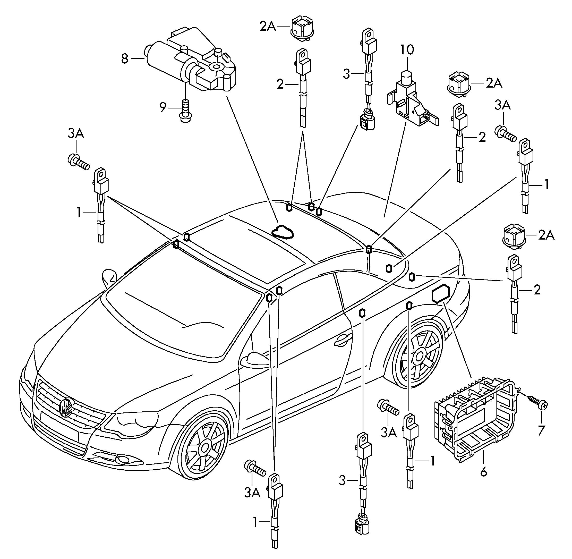 Volkswagen Eos Control Unit And Sensors For Cabriolet Roof