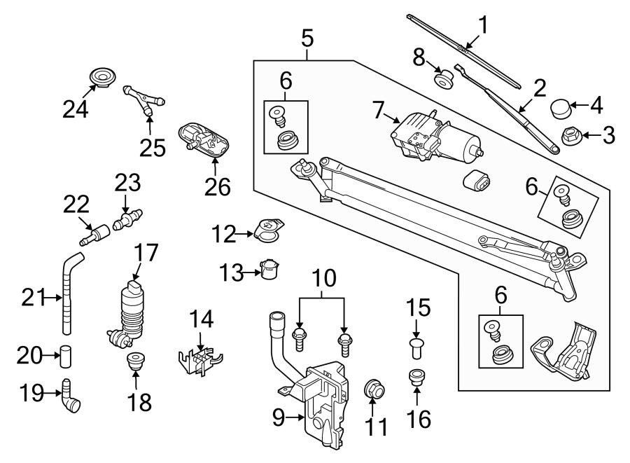 2013 Volkswagen Tiguan Headlight Washer Pump Grommet. Plug