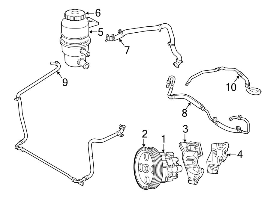 Volkswagen Routan P/s cooler tube. P/s return hose. Power
