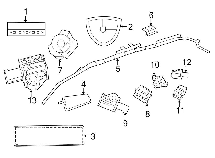 Volkswagen Routan Steering angle sensor clockspring with