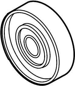 Volkswagen Touareg Relay roller. TIMING BELT ROLLER. BELT