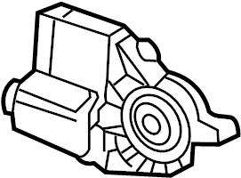 2006 Volkswagen New Beetle Convertible Window lifter motor
