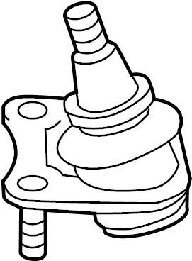 Volkswagen Rabbit 1.6L T-Diesel Guide joint. Right