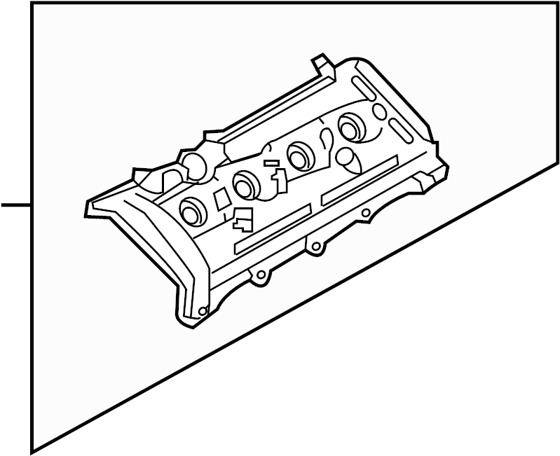 Volkswagen Touareg Cylinder head cover with gasket. CYL