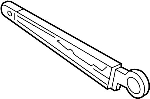 Volkswagen Touareg Aero-wiper arm. WINDSHIELD WIPER ARM
