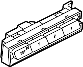 Volkswagen Touareg Memory switch for seat adjustment