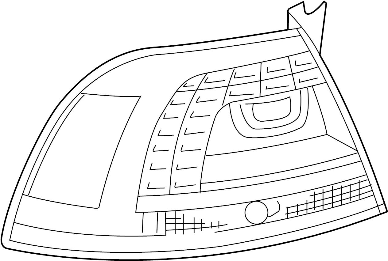 Volkswagen Touareg Led Tail Light Light Emitting Diode