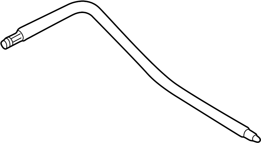 1999 Volkswagen Passat Flexible hose from vane pump to