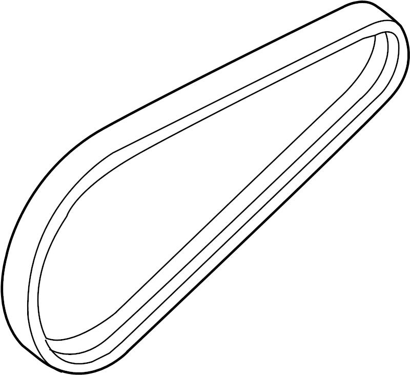 Volkswagen Passat Belt, V-Ribbed (A/C). REFRIGERANT