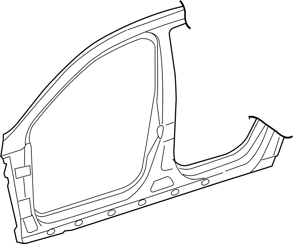 Volkswagen Passat Sectional Part Pillar A B With Side Member Pillar A With Side M Subpart