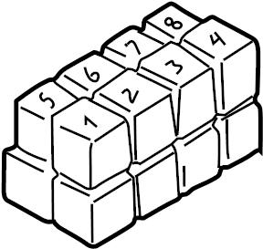 Volkswagen Cabrio/Cabriolet Fuse box fuse box/relay plate