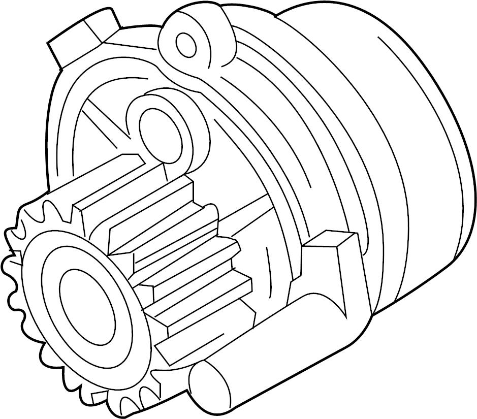 Volkswagen Passat 4.0L W8 8 Cylinder Water pump with