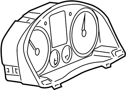 Volkswagen Golf Instrument cluster. COMBI INSTRUMENT