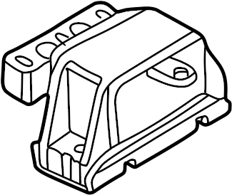 2002 Volkswagen Jetta Variant Gearbox mounting for manual