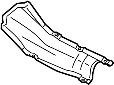 Volkswagen Rabbit Heat shield for tunnel. TUNNEL HEAT