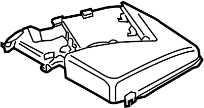 Volkswagen Jetta Battery cover with relay plate bracket