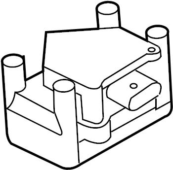 2012 Volkswagen Ignition transformer. IGNITION COIL. CMXA