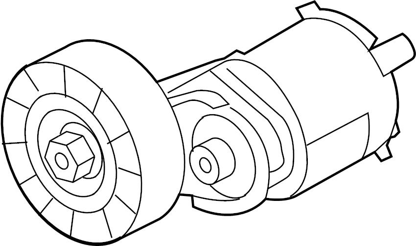 Volkswagen Jetta Tensioning element with screw for