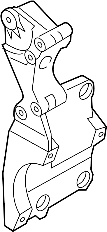 Volkswagen Jetta Bracket for generator and refrigerant