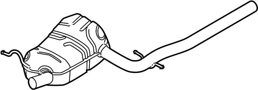Volkswagen Jetta Exhaust silencer, front. EXHAUST MUFFLER