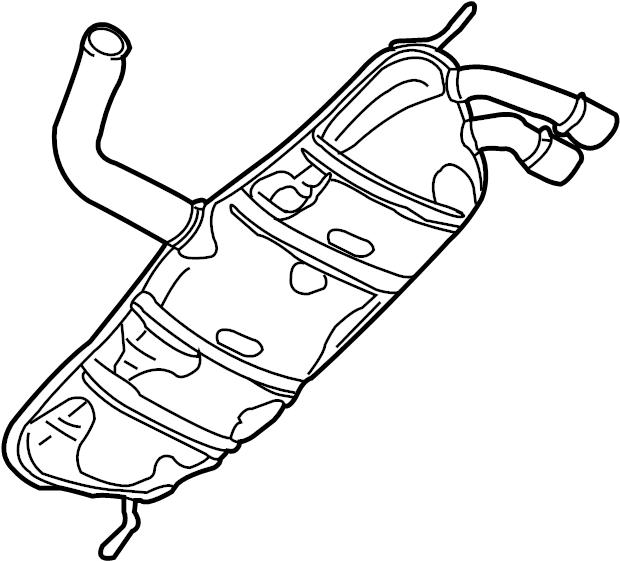 Volkswagen R32 Exhaust silencer, rear. EXHAUST MUFFLER