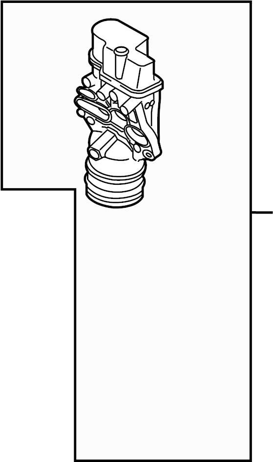 2012 Volkswagen Oil filter adapter. OIL FILTER BRACKET