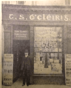 Thomas-Clarke-outside-his-shop-in-Parnell-Street.