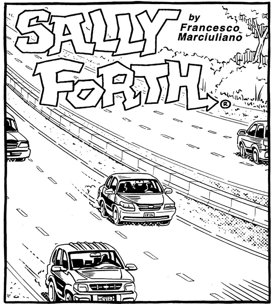 Sally Forth Drop Panels – April to June 2014