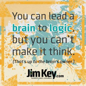 You Can Lead a Brain to Logic…